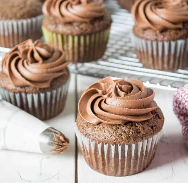 Chocolate Mayonnaise Cupcakes