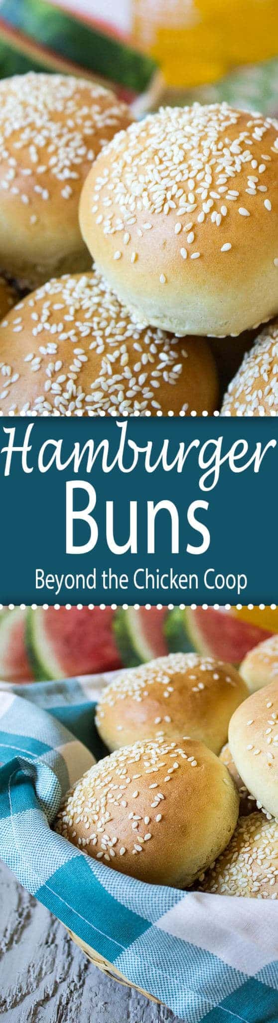 Take your burger to a whole new level with homemade hamburger buns. #hamburgerbuns #homemadebread #baking