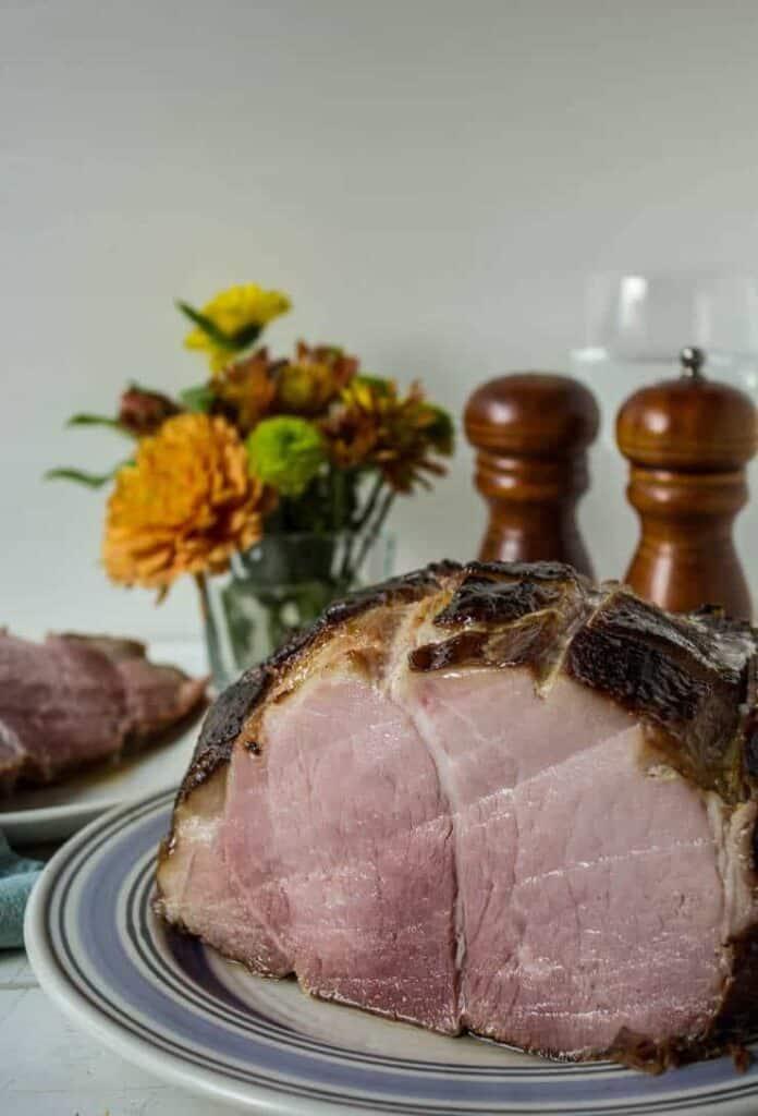 Baked ham with citrus glaze