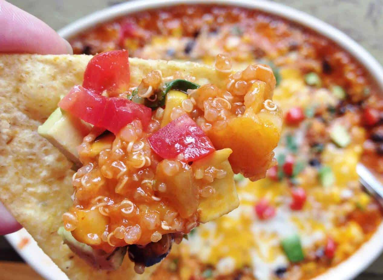 Quinoa Enchilada Bake on a Chip