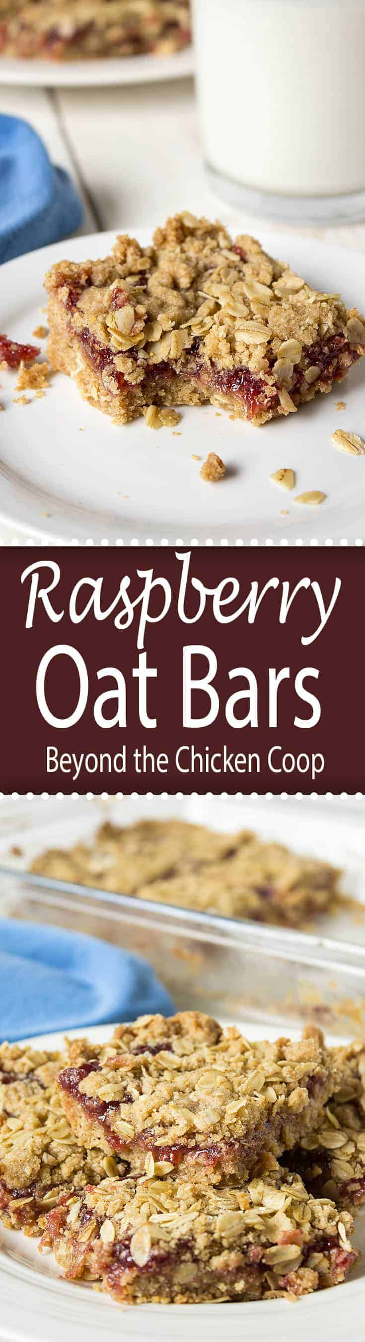 Raspberry jam makes these raspberry oat bars super easy to make and delicious to eat.