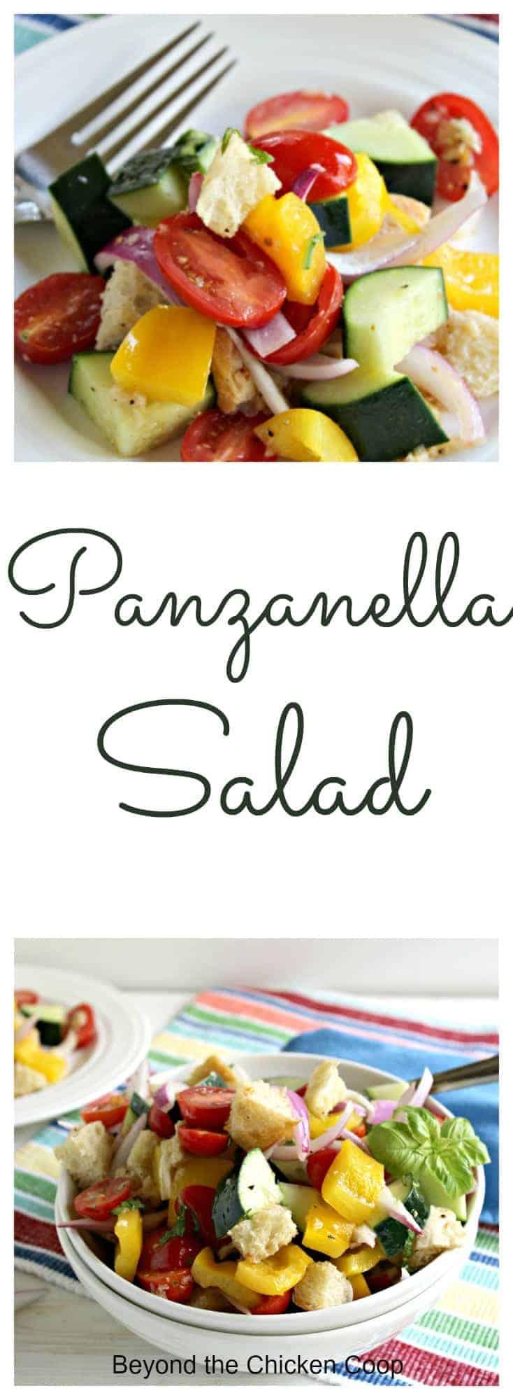Fresh and delicious Panzanella Salad.