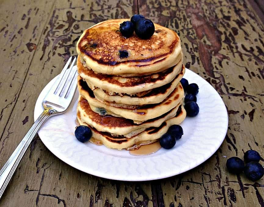 Blueberry Buttermilk Pancakes Beyond The Chicken Coop