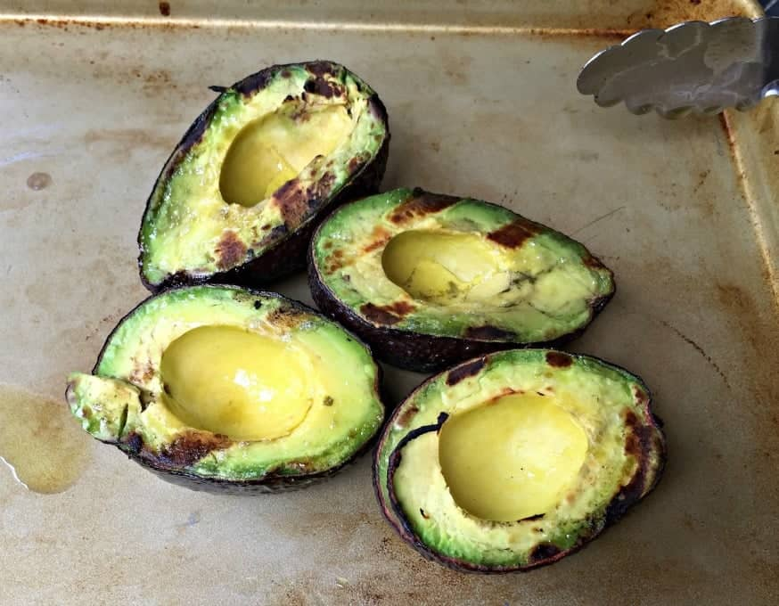 Grilled Avocados in their shells.