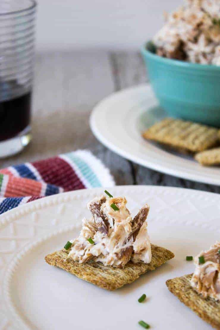 Smoked Salmon and Cream Cheese Dip is a perfect appetizer for a casual party or a fancy event.