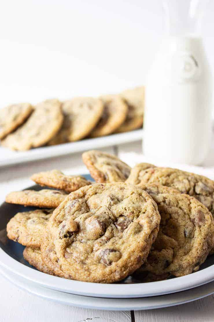 Toffee Chocolate Chip Cookies are a perfect cookie!