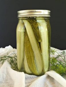 Homemade Dill Pickle Spears