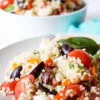 Quinoa Salad with fresh tomatoes and bell peppers
