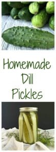 Homemade Dill Pickles - Recipe for making dill pickles one jar at a time or a dozen jars at a time.