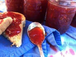 Plum Jam on Spoon