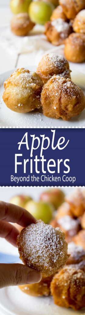 Quick and easy apple fritters with chunks of apples