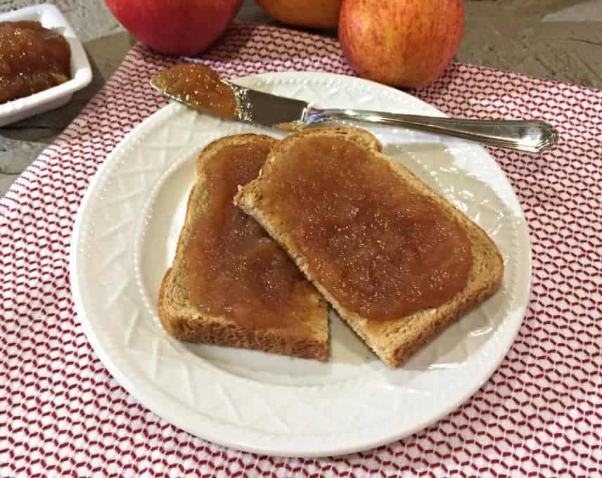Apple butter on toast