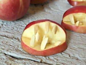 Apple Halloween Teeth