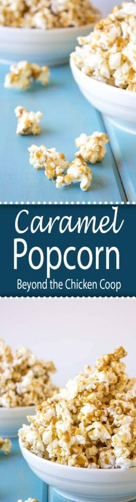Caramel Popcorn makes a great gift or a perfect treat!