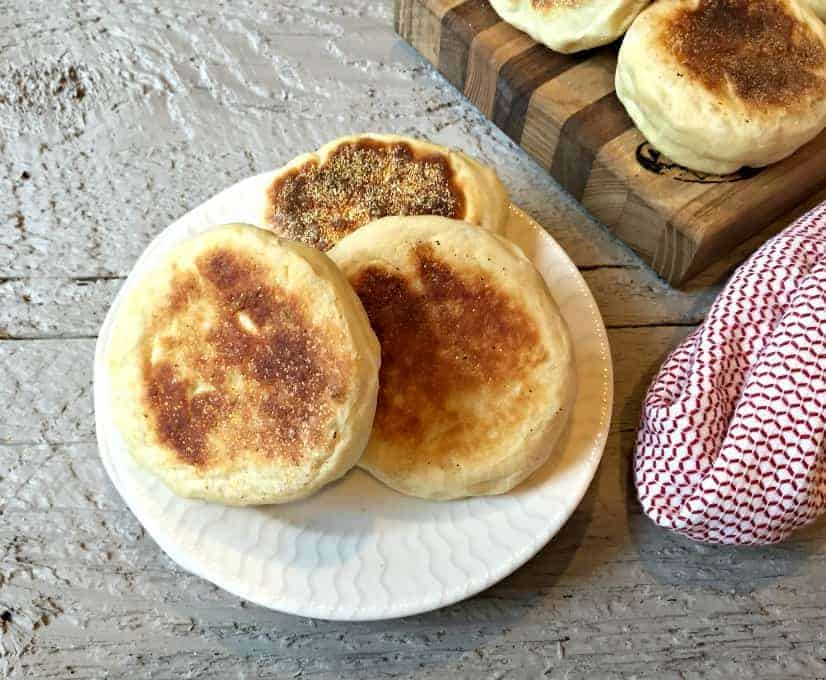 Homemade English Muffins. So easy to make and totally delicious!