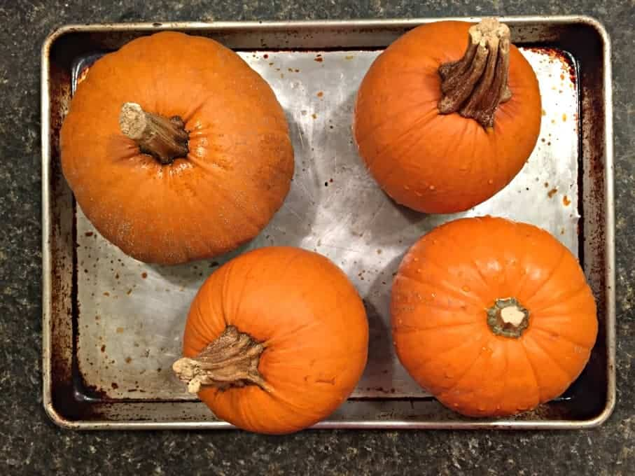 Pumpkins ready for the oven