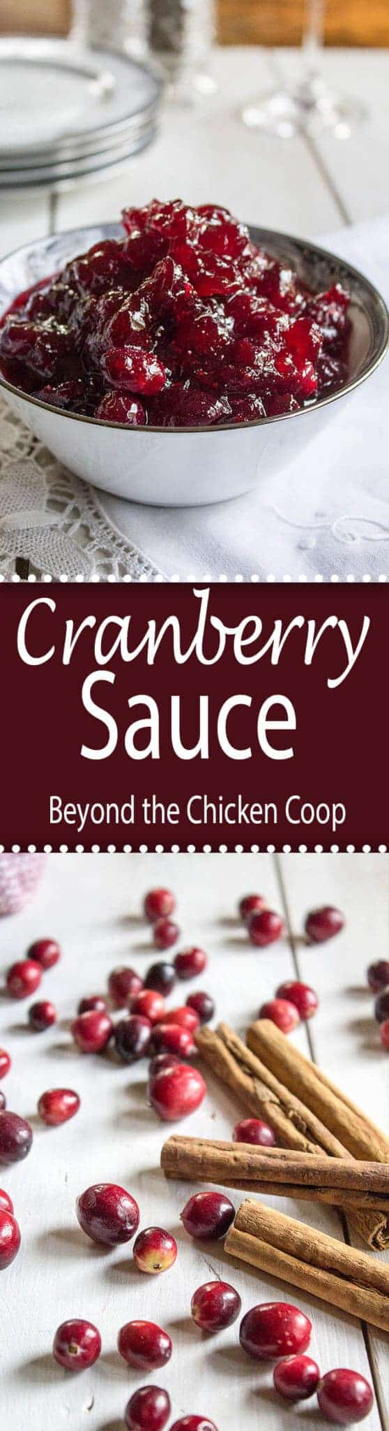 This delicious whole berry cranberry sauce is made with just four simple ingredients.