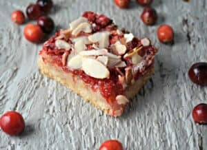 Cranberry Shortbread Nut Bar