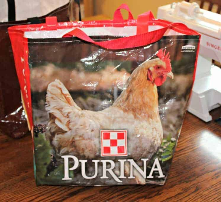 chicken feed bags