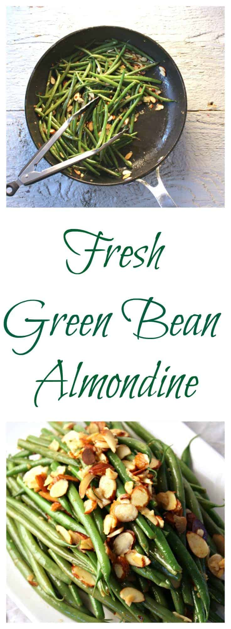 Fresh green beans make a perfect side dish in this green bean almondine recipe. #greenbeans #holidays #vegetable #greenbeanswithalmonds