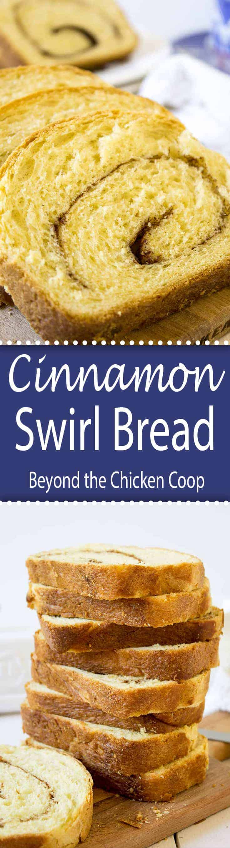 Cinnamon Swirl Bread  is perfect for breakfast toasted with butter or eaten plain. Either way is delicious!