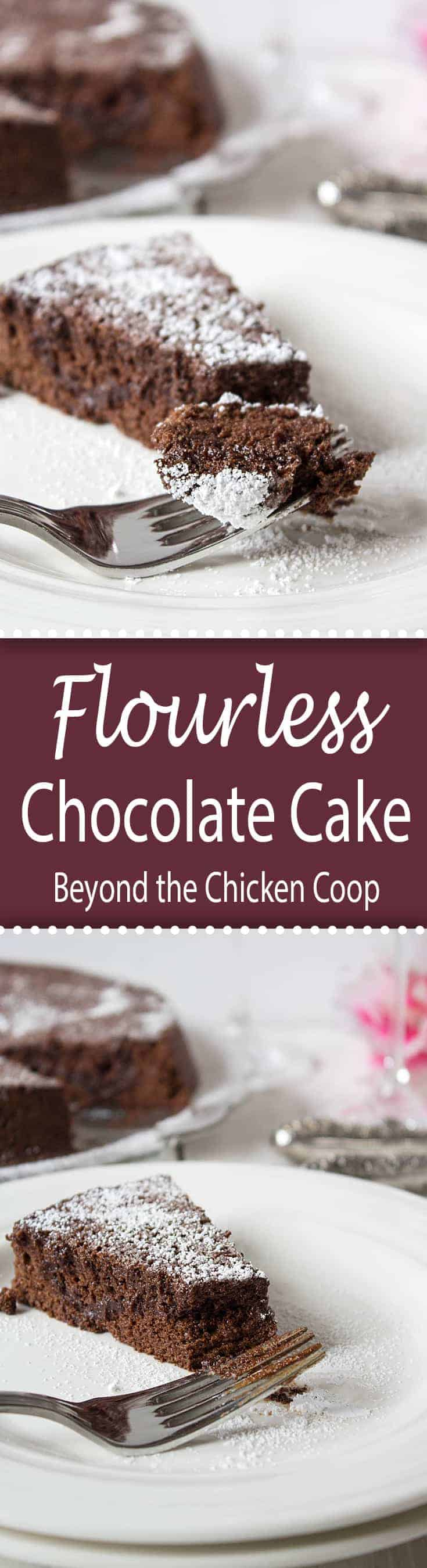 Flourless chocolate cake is rich and so chocolaty. #chocolate #flourlesscake #baking #glutenfree