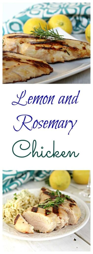 Lemon and rosemary grilled chicken.