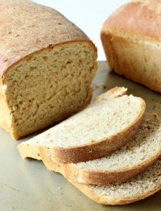 Homemade cracked wheat bread