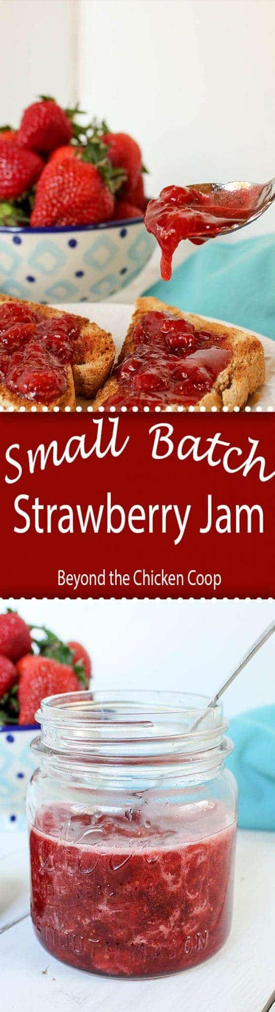 Make you own small batch of strawberry jam. Just two simple ingredients is all you need!