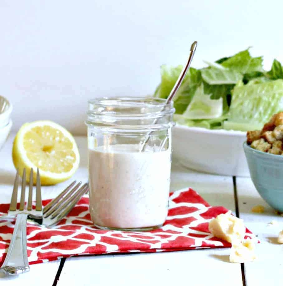 Creamy Caesar Salad Dressing. This dressing makes a perfect Caesar Salad. Beyond the Chicken Coop