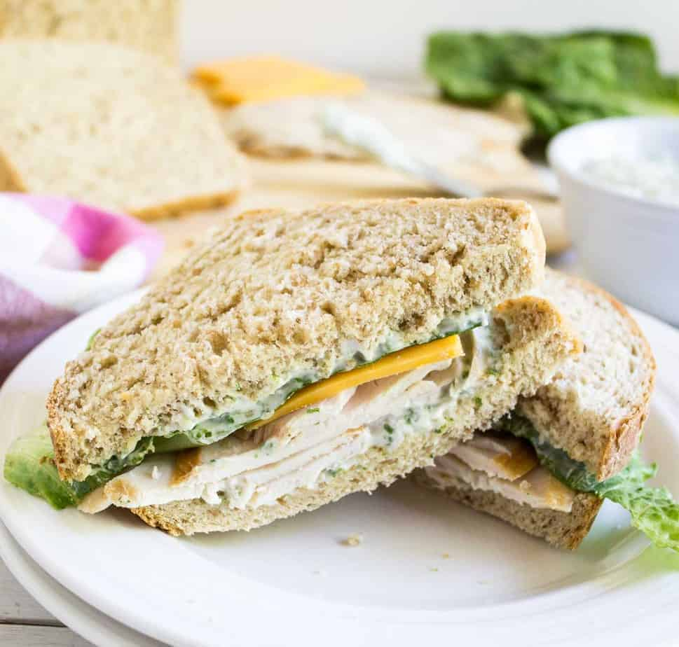 Basil Mayonnaise is a perfect way to add extra flavor to any sandwich or wrap. ~ Beyondthechickencoop.com