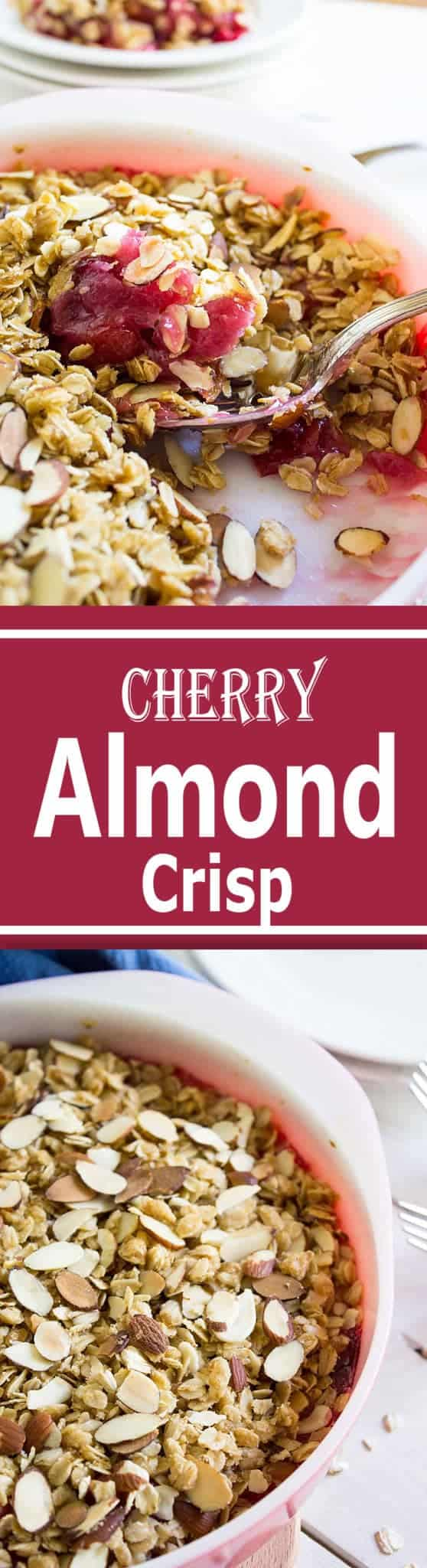 Cherry Almond Crisp ~ beyondthechickencoop.com