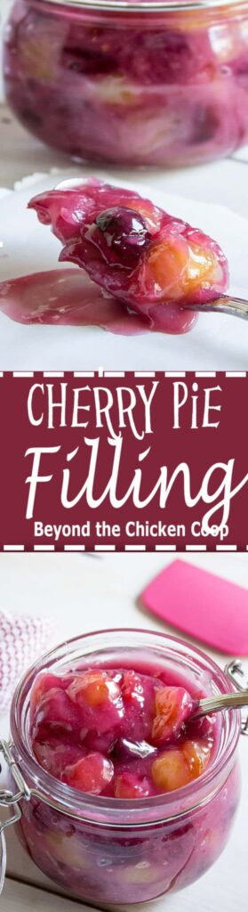 Take full advantage of cherry season. This cherry pie filling can be made using sweet or tart cherries.