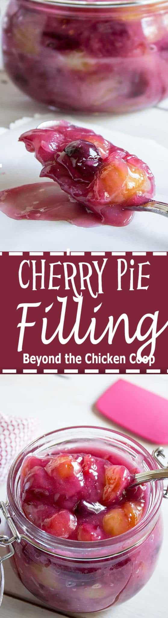 Take full advantage of cherry season. This cherry pie filling can be made using sweet or tart cherries. #cherries #cherrypiefilling #cherrypie