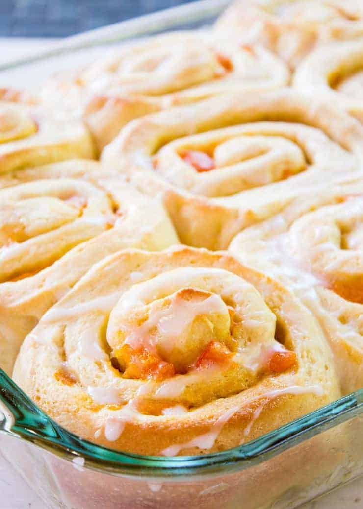 Your mornings just became sunnier with these Apricot Sweet Rolls. beyondthechickencoop.com
