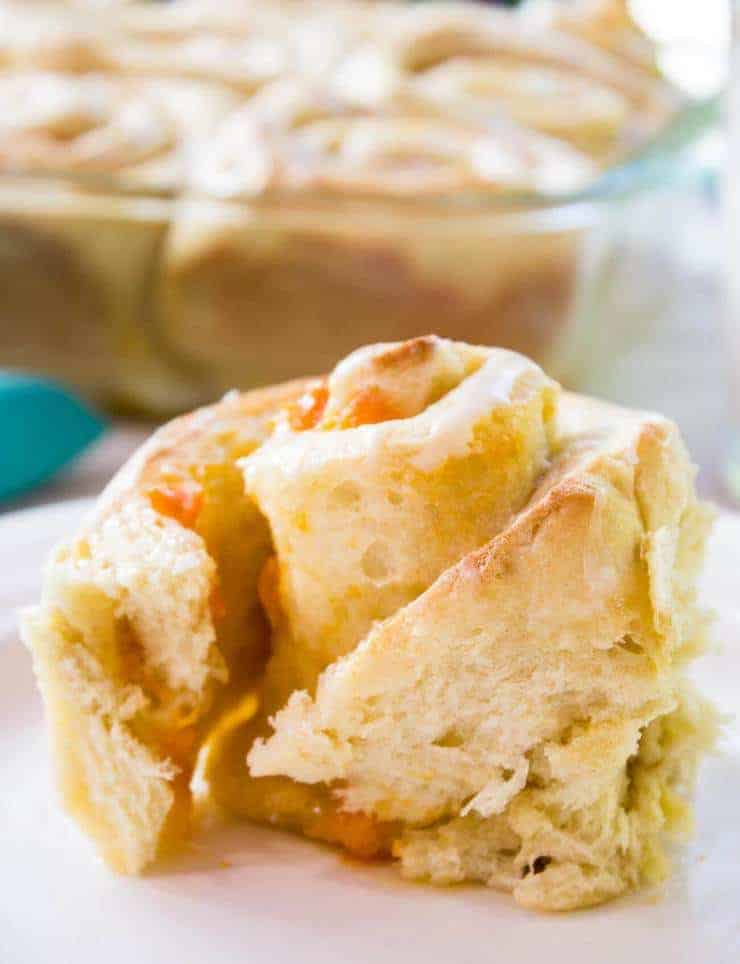 Fresh Apricots make a delicious filling in these Apricot Sweet Rolls