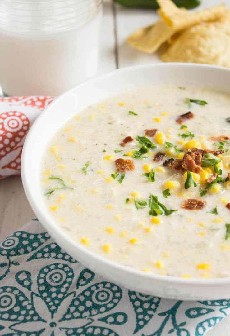Homemade Corn Chowder made with fresh corn on the cob. beyondthechickencoop.com
