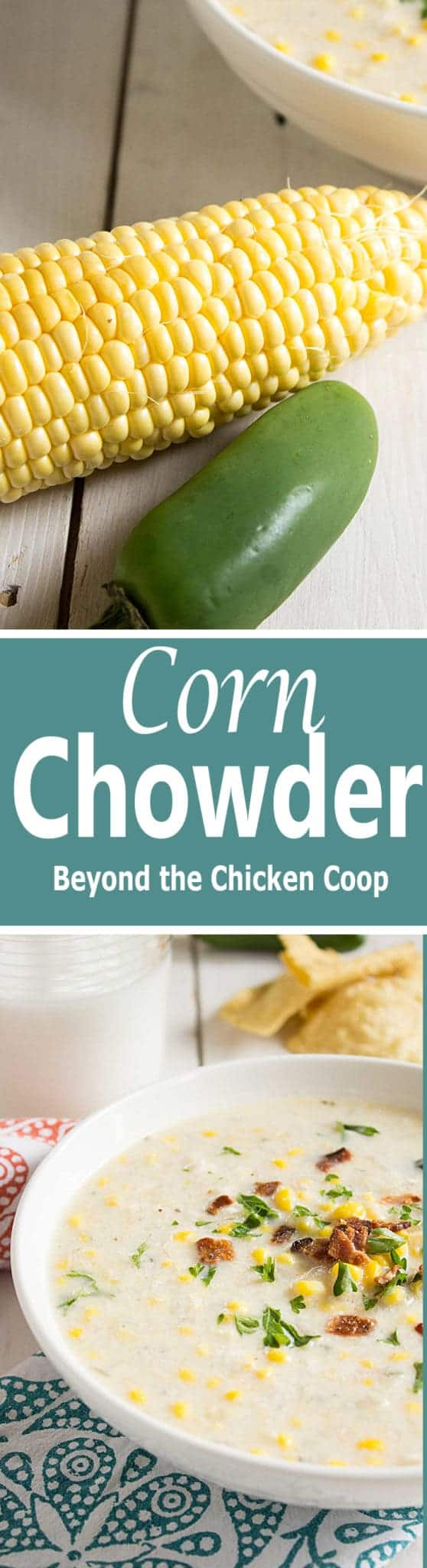 Make full use of fresh corn in this corn chowder. beyondthechickencoop.com