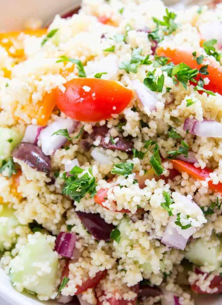 Mediterranean Couscous Salad BeyondtheChickenCoop.com