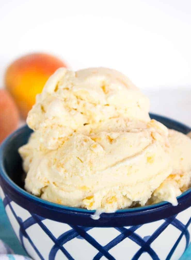 Fresh peaches at the peak of ripeness make perfect Old Fashioned Peach Ice Cream. beyondthechickencoop.com