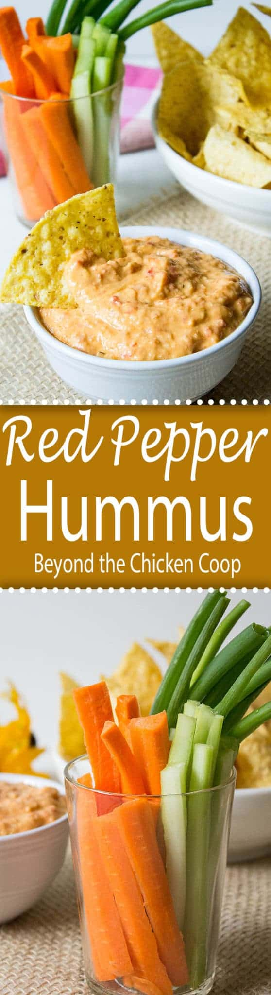 Roasted Red Bell Pepper Hummus - Beyond The Chicken Coop