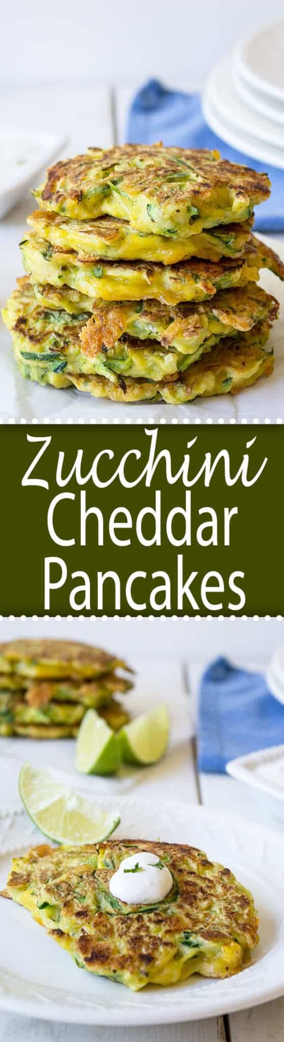 Zucchini Cheddar Pancakes beyondthechickencoop.com
