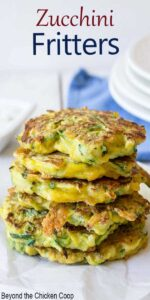 A stack of zucchini fritters.