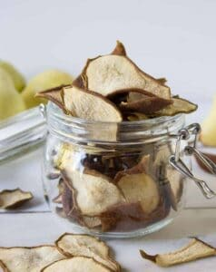Pear Chips...dehydrated pears make a perfect, healthy snack!