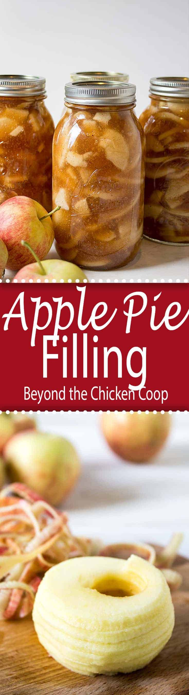 Can your own apple pie filling. This homemade pie filling is ready whenever you need it to make a delicious apple pie or apple cobbler!