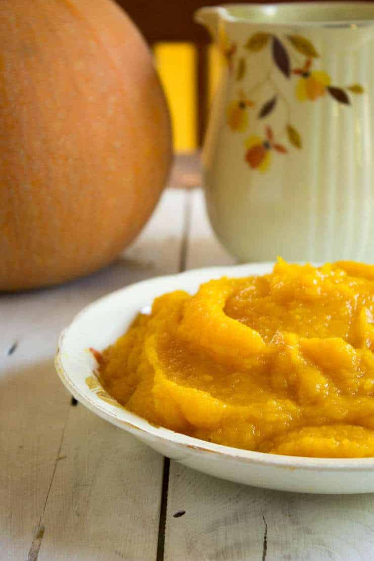 Homemade pumpkin puree can be used in all your pumpkin recipes.