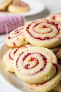 Cranberry Orange Swirl Cookies