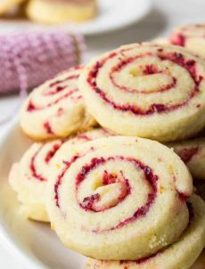 Cranberry Orange Swirl Cookies
