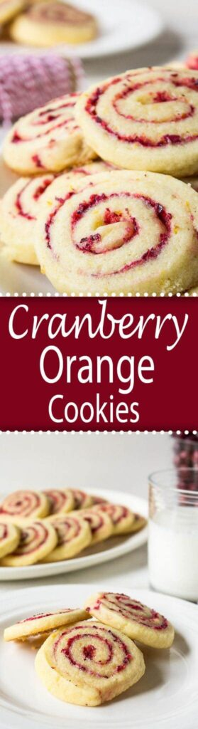 Cranberry Orange Swirl Cookies are perfect for the holidays!