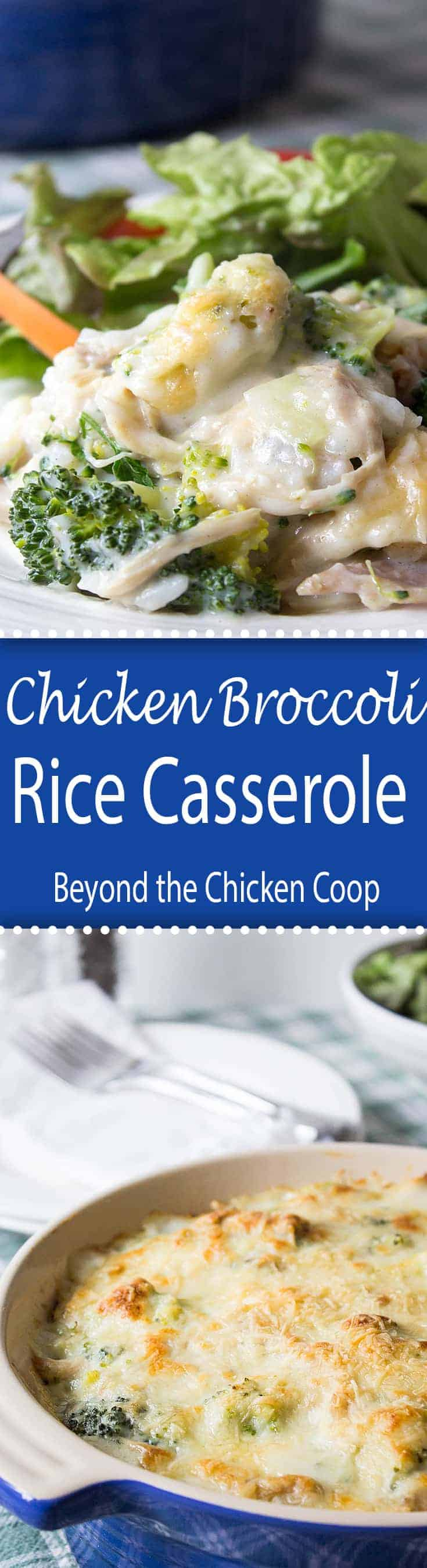 This Chicken, Broccoli and Rice Bake is perfect for dinner any night of the week. Can be made ahead of time and baked when needed. Perfect freezer meal.